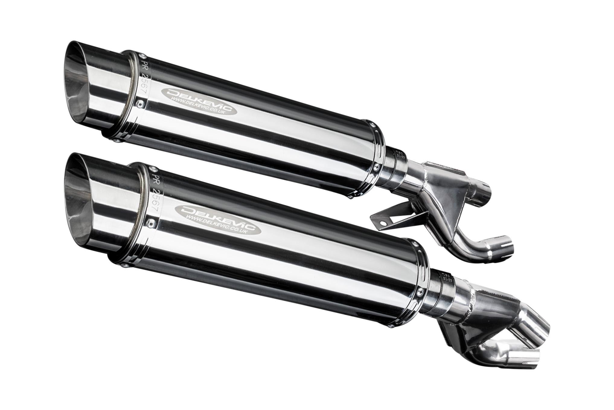 """Honda VMAX 14"""" Stainless Round Muffler Exhaust 84-98 99 00"""