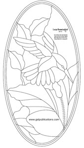 Free Large Hummingbird Bevel Panel Pattern
