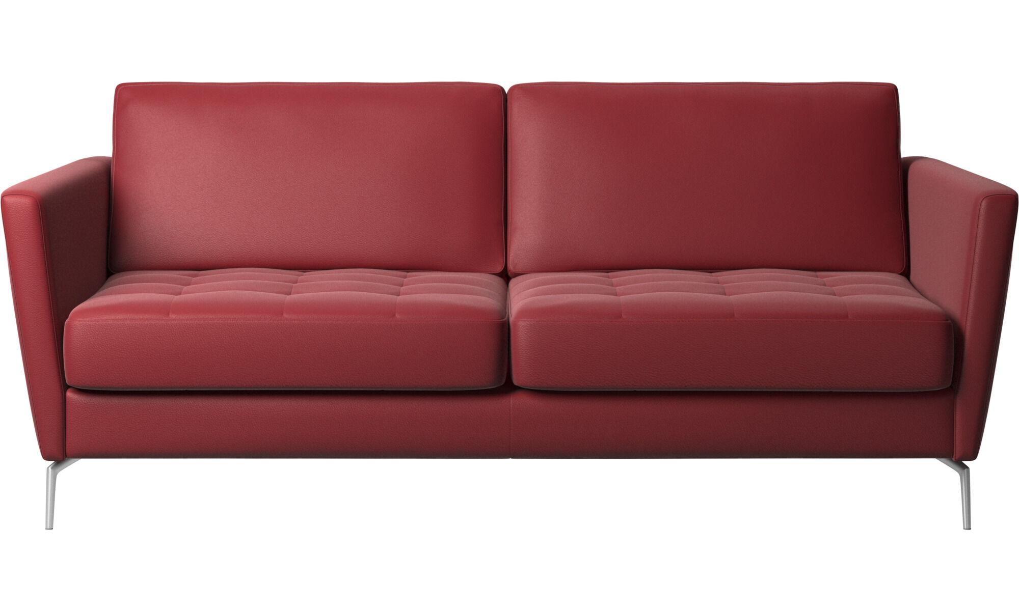 Modern Red Leather Designer Sofa Beds Boconcept