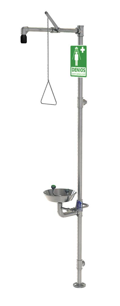 Emergency shower and eye wash station for use in hazardous