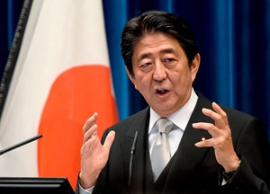 Japans Premier Shinzo Abe ist wegen Nordkorea in Sorge.