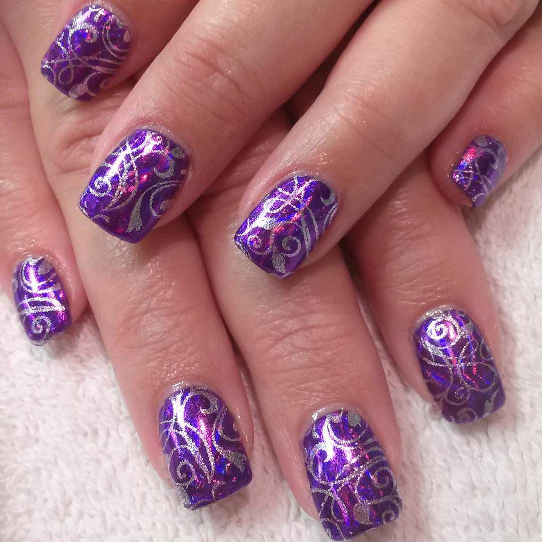 24+ Purple Nail Art, Designs, Ideas