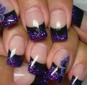 purple nail art design ideas