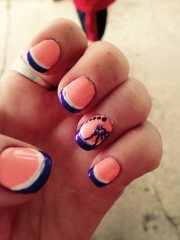 eye catching summer nail design