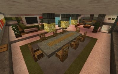 minecraft kitchen modern designs table dining cool interior room furniture decorating mine craft designtrends houses glowstone above use stove