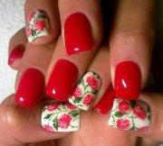 pretty red nail design