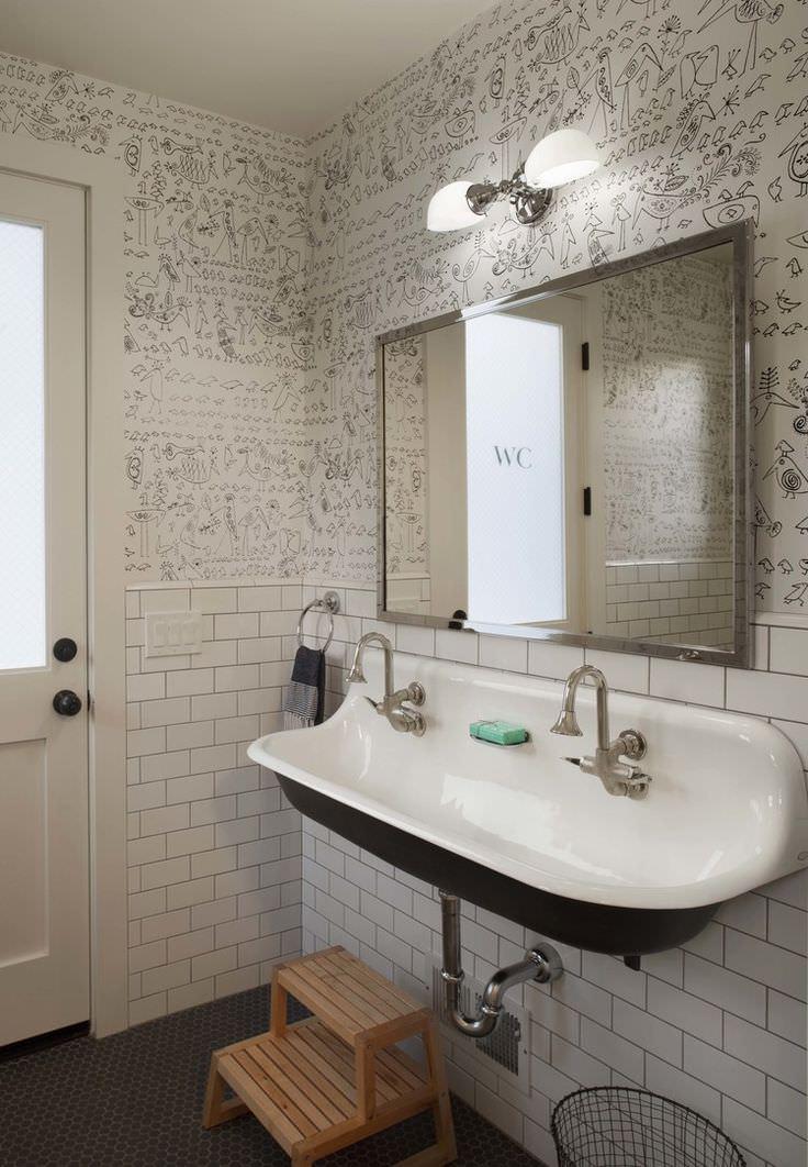 10 Bathroom Wallpaper Designs  Bathroom Designs  Design Trends  Premium PSD Vector Downloads