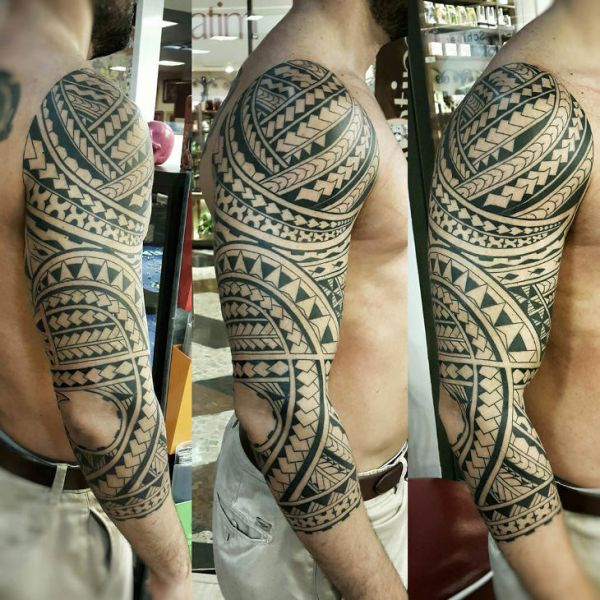 20 Poly Arm Band Tattoos Ideas And Designs