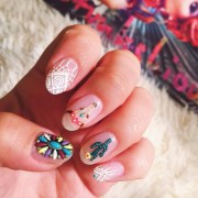 attractive gel nails design