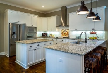 shaped kitchen kitchens peninsulas designs farmhouse homes interior randy wise plan trends parkview place