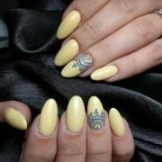 yellow nail art design ideas
