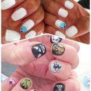 cool halloween nail design