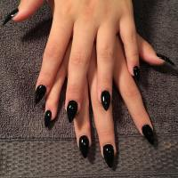 34+ Black Nail Art, Designs, Ideas
