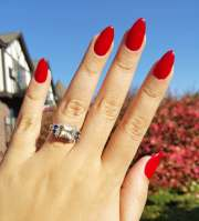 pretty red nail design