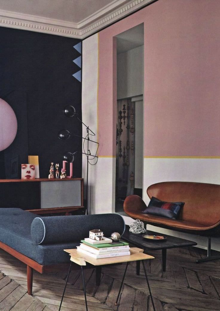 31 Retro Wall Paint Designs  Home Designs  Design Trends