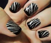 zebra nail art design ideas