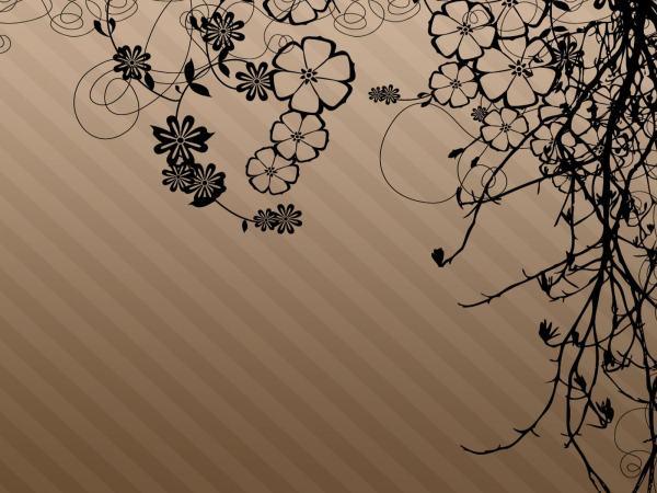 Brown Flower Desktop Wallpaper