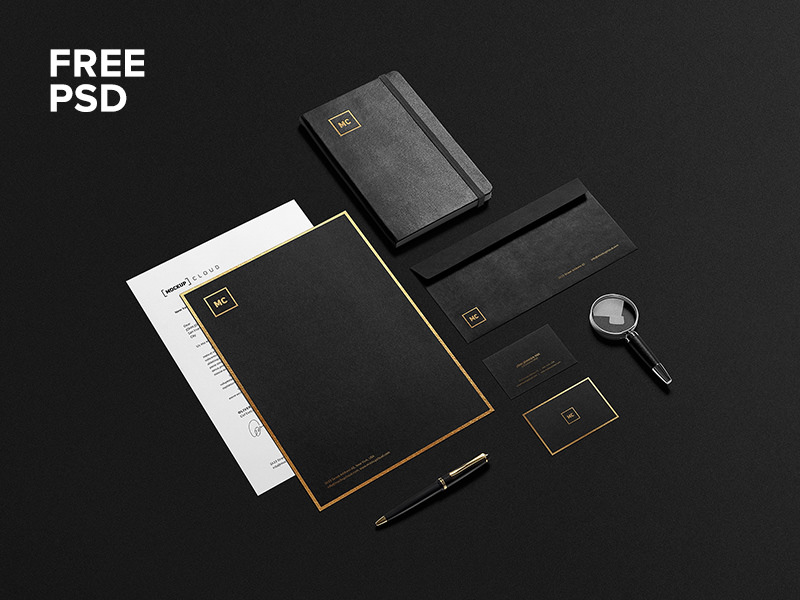 19 Free And Premium Stationary Mockups PSD Download