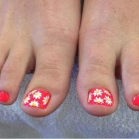 32+ Flower Toe Nail Designs