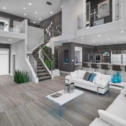 living room contemporary gray designs interior modern grey livingroom decorating stairs rooms decor decoration idea interiors furniture styles mansion inspiration