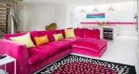 18+ Pink Sofa Living Room Designs, Ideas
