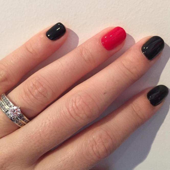 Black White And Red Nails Nail Designs Cool Design Ideas