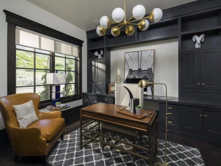 20+ Masculine Home Office Designs, Decorating Ideas