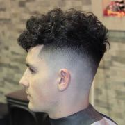 curly fade haircut design