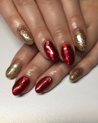 26+ Red and Gold Nail Art Designs , Ideas | Design Trends ...