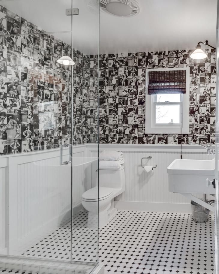 20 Black And White Bathroom Designs Decorating Ideas  Design Trends  Premium PSD Vector