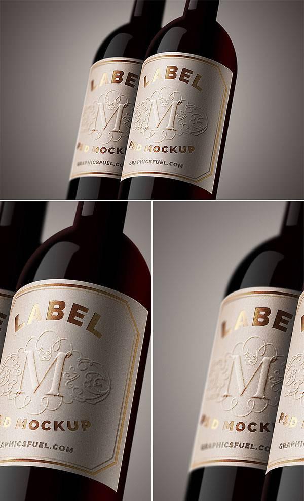 19 Free Wine Bottle Mockups PSD  Mockups  Design Trends