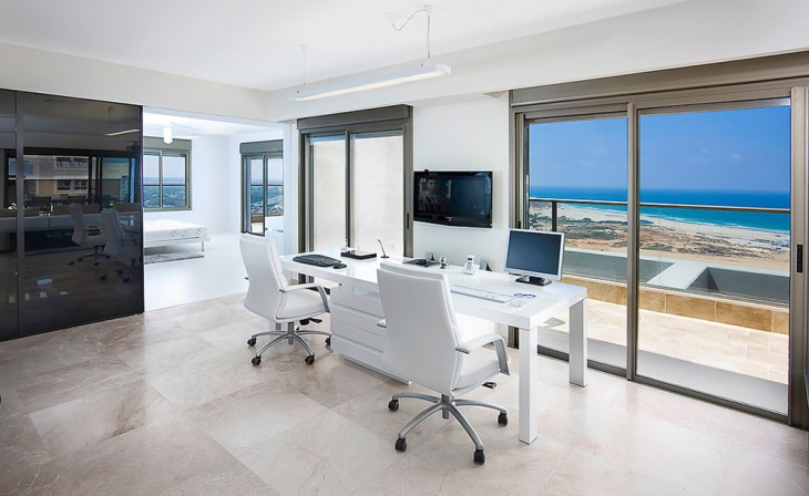 grey leather desk chair orange deck 16+ white home office furniture, designs, ideas, plans | design trends - premium psd, vector ...