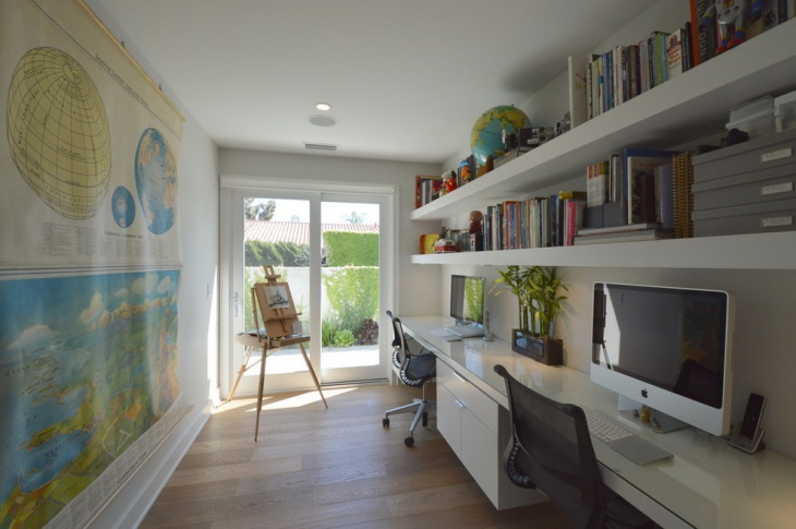 20 Mid Century Modern Home Office Designs Decorating
