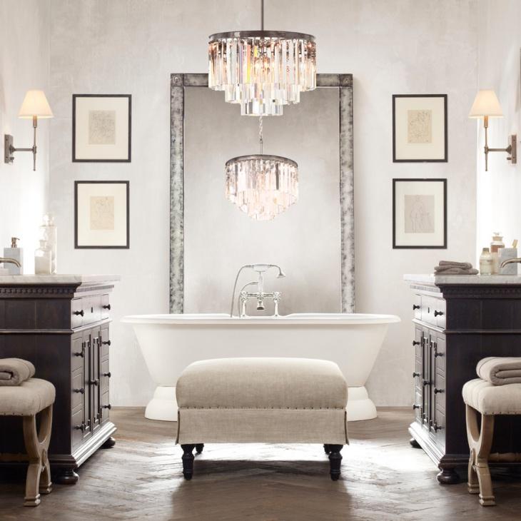 20 Bathroom Chandelier Designs Decorating Ideas  Design Trends  Premium PSD Vector Downloads