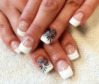 20+ White Tip Nail Art Designs, Ideas