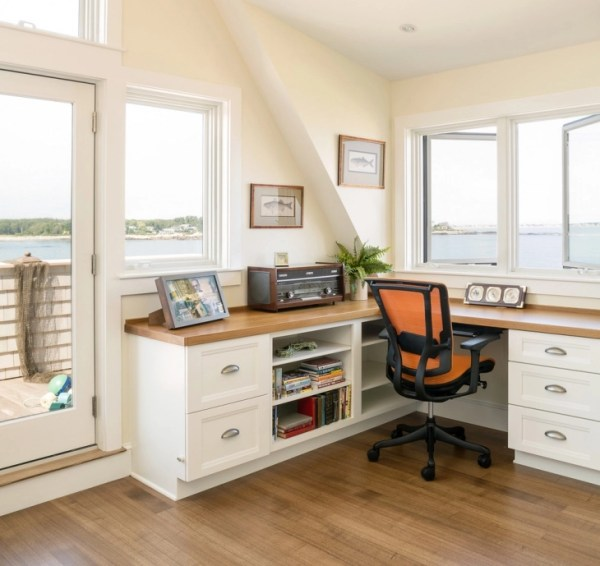 corner desk home office ideas 20+ Coastal Home Office Designs, Decorating Ideas   Design Trends - Premium PSD, Vector Downloads