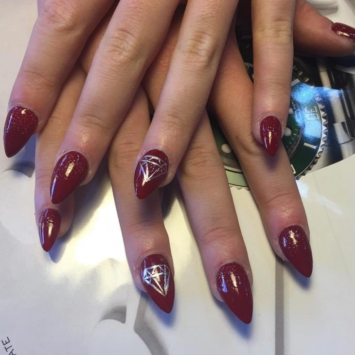 25 Pointy Nail Art Designs Ideas Design Trends