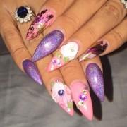 pointy nail art design ideas