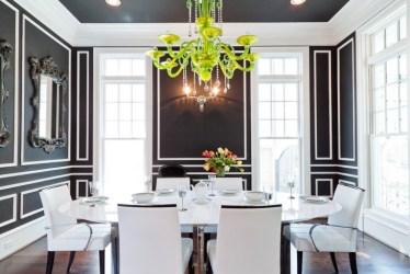 dining room luxury chandelier wall rooms decorating interior designs walls chandeliers dinning dark decor modern formal chairs furniture diningroom molding