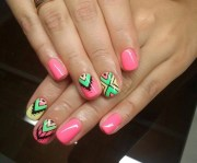 aztec nail art design ideas