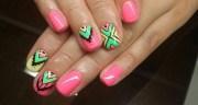 aztec nail art design ideas