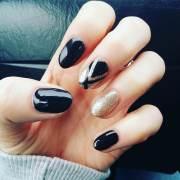 black stiletto nail art design