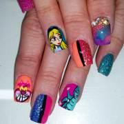 cartoon nail art design