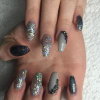 25+ Glitter Acrylic Nail Art Designs , Ideas