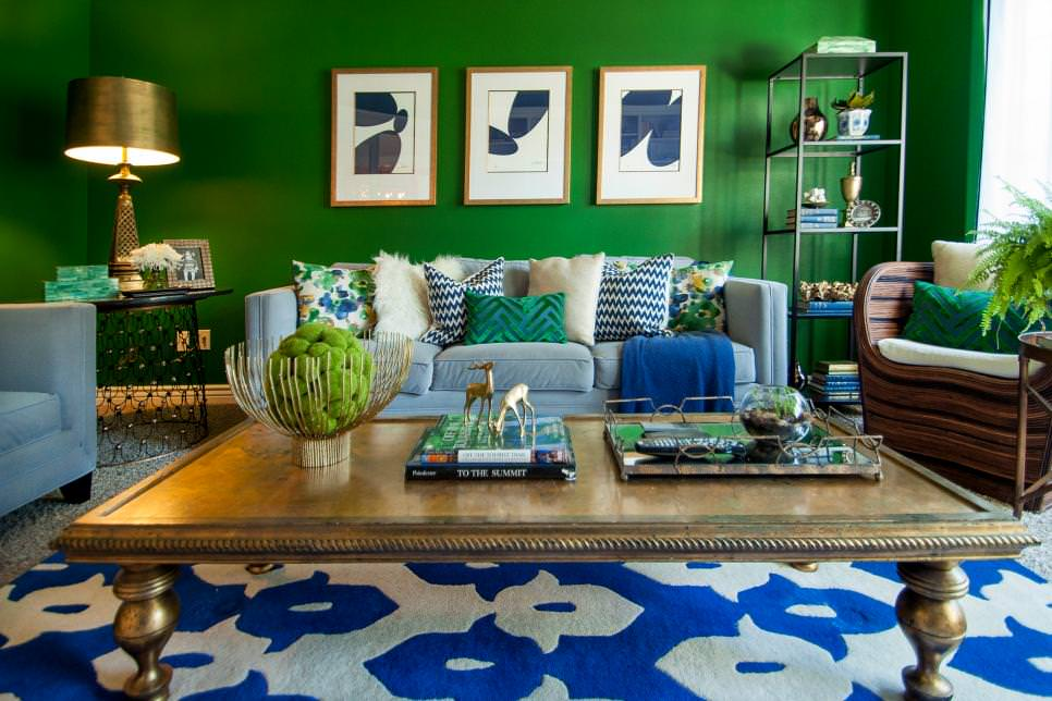 21 Green Living Room Designs Decorating Ideas Design