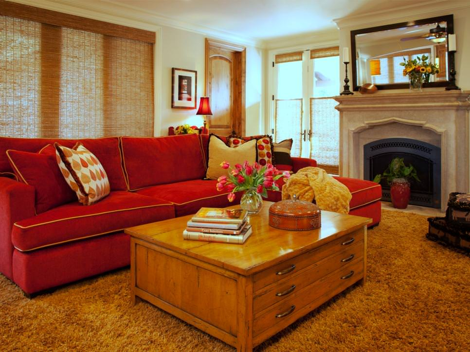 Red walls aren't easy to master, but they are certainly worth it. 25+ Red Living Room Designs, Decorating Ideas   Design ...
