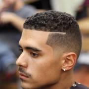 curly fade haircut design
