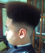 box fade haircut design