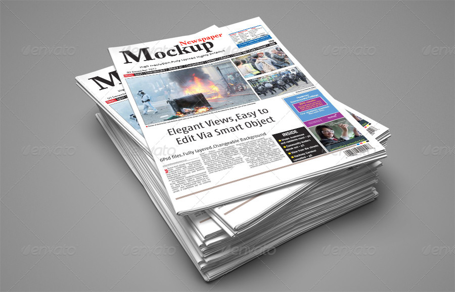 download newspaper template