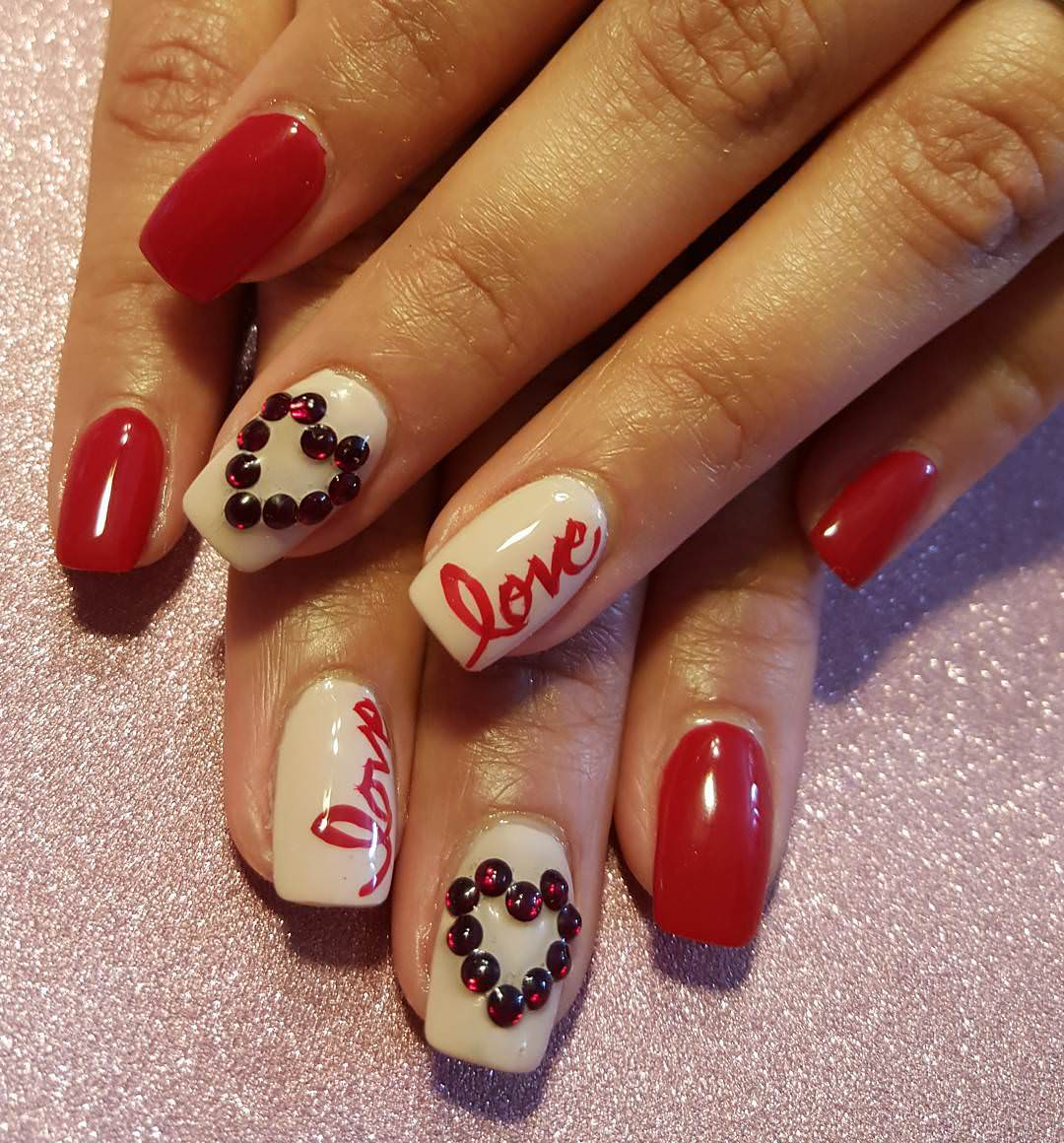 27+ Valentine Nail Art Designs, Ideas